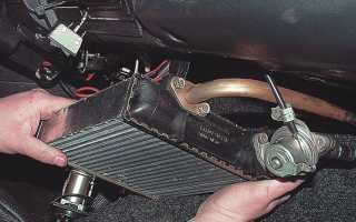 ВАЗ 2107: замена радиатора печки