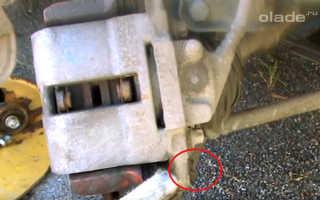 Как заменить передние тормозные колодки на Ладе Гранта