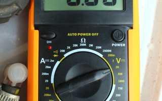 Проверка аккумулятора и генератора мультиметром