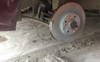 Замена тормозных дисков на Ладе Приора