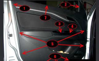Лада Веста. Снятие и установка карты водительской двери. Фото