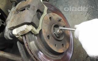 Замена ступичного подшипника передней подвески