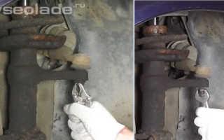 Замена амортизатора передней подвески