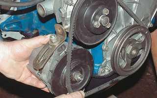 Порядок замены ремня генератора ВАЗ 2107