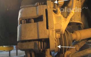 Замена тормозных колодок переднего колеса Лада Приора