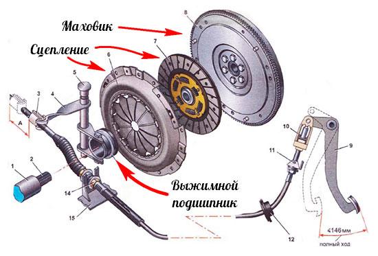 Схема сцепления фото