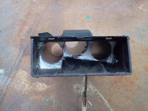 Прокладка труб для доработки отопителя