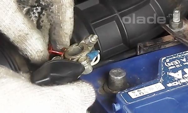 Клеммы аккумулятора Лада Калина