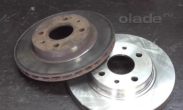 Старый и новый тормозной диск Лады