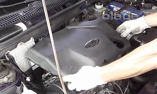 Установка пластиковой защиты двигателя Лада