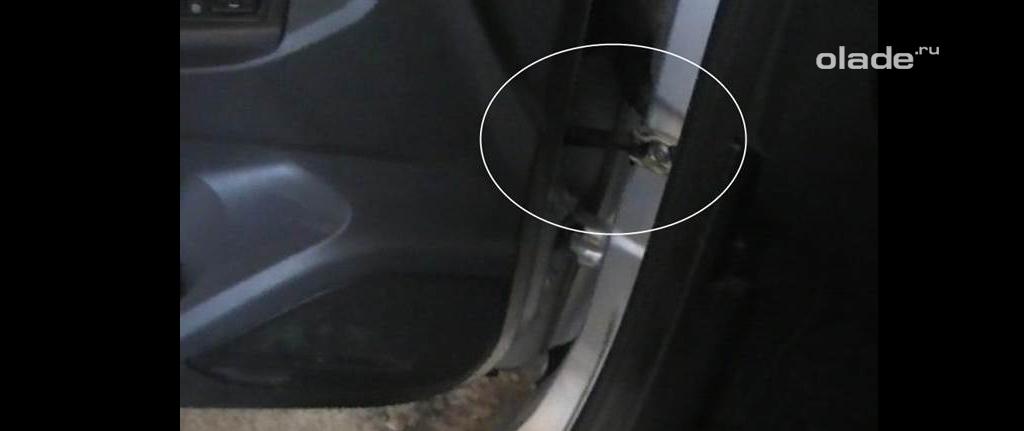 Доработка штатных ограничителей дверей на Ладе Веста, водительская дверь