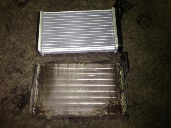 Новый и старый радиатор отопителя
