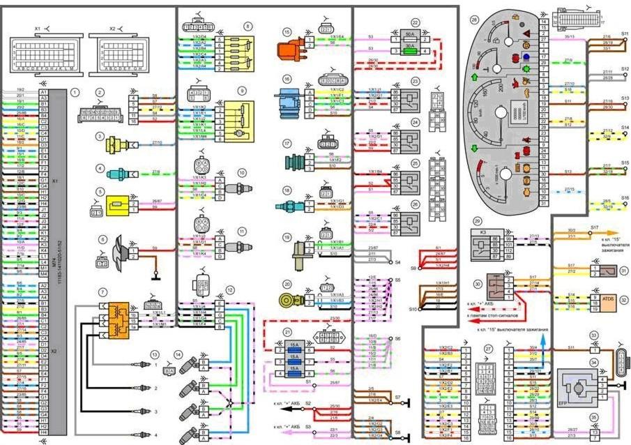 Схема управления работы двигателем