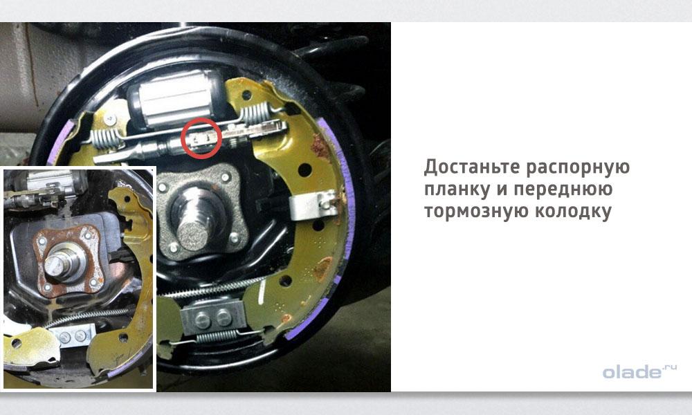 Замена задних тормозных колодок на Ладе Веста (фото 7)