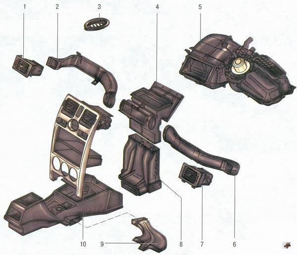 Схема печки Лада Приора