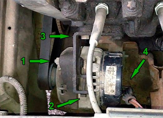 Как снять генератор на ВАЗ 2114? (фото 2)