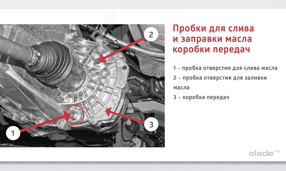 Замена трансмиссионного масла в КПП на Ладе Веста: пробки для слива и заправки